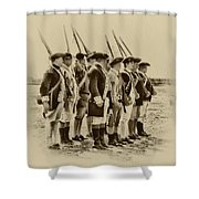 American Soldiers At Fort Mifflin Shower Curtain