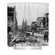 American Soldiers In Cologne, Germany Shower Curtain