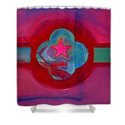 American Spiritual Decal Shower Curtain