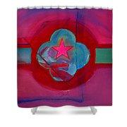 American Spiritual Decal Shower Curtain