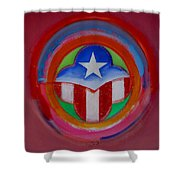American Star Button Shower Curtain