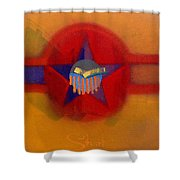 American Sub Decal Shower Curtain