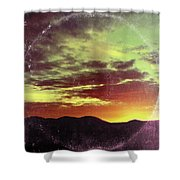 American Sunset As Vintage Album Art Shower Curtain