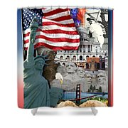 American Symbolicism Shower Curtain