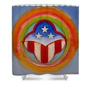 American Three Star Landscape Shower Curtain