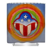 American Three Star Landscape Shower Curtain