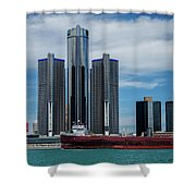 American Victory At Detroit Shower Curtain