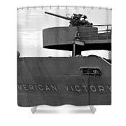 American Victory Ship Shower Curtain