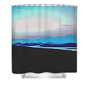 American Wilderness At Night Shower Curtain