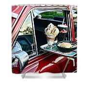 Americana - The Car Hop Shower Curtain by Paul Ward