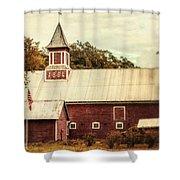 Americana Barn Shower Curtain