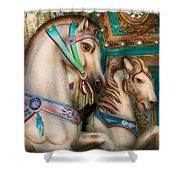 Americana - Carousel Beauties Shower Curtain