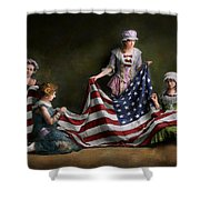 Americana - Flag - Birth Of The American Flag 1915 Shower Curtain