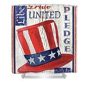 Americana Patriotic Shower Curtain