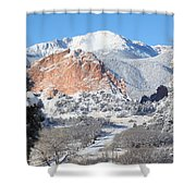 America's Mountain Shower Curtain