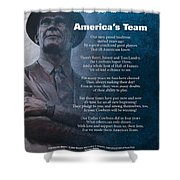America's Team Poetry Art Shower Curtain