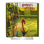 Americas Wetlands Shower Curtain