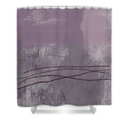 Amethyst 1- Abstract Art By Linda Woods Shower Curtain