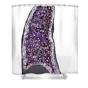 Amethyst Geode. Shower Curtain