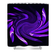 Amethyst Heart Sun Shower Curtain