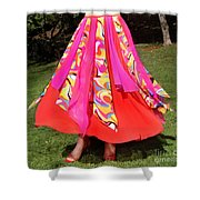 Ameynra Belly Dance Fashion - Multi-color Skirt 93 Shower Curtain