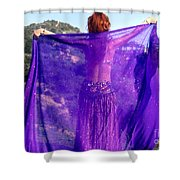 Ameynra Belly Dance. Purple Veil Shower Curtain