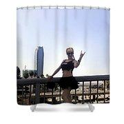 Rocker Girl Sofia Shower Curtain
