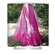 Ameynra Design - Pink-white Petal Skirt 146 Shower Curtain