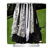 Ameynra Fashion Gothic Skirt With Lace Shower Curtain