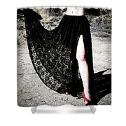 Ameynra Gothic Fashion By Sofia Metal Queen. Lace Skirt 168 Shower Curtain