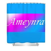 Ameynra - Logo 003 Shower Curtain