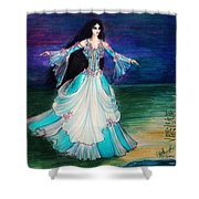 Ameynra. Night Dance Before Wedding Shower Curtain