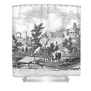 Amherst College, 1855 Shower Curtain