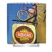 Amicas Pizza Shower Curtain
