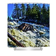 Amincon River Rootbeer Falls Shower Curtain