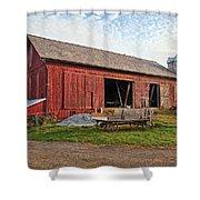 Amish Barn At Sunrise Shower Curtain