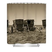 Amish Buggies Shower Curtain