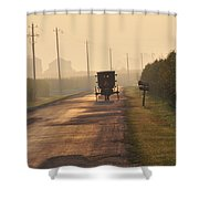 Amish Buggy And Corn Over Your Head Shower Curtain