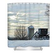 Amish Buggy At Morning Shower Curtain
