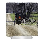 Amish Buggy March 2016 Shower Curtain
