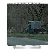 Amish Buggy Parked By A Creek Shower Curtain