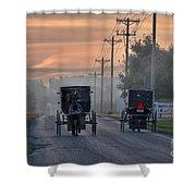 Amish Buggy Sunday Morning Shower Curtain