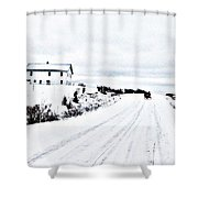 Amish Christmas Shower Curtain