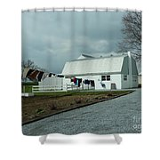 Amish Clothesline And A Barn Shower Curtain