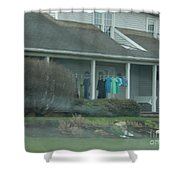 Amish Clothing Hanging To Dry Shower Curtain