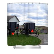 Amish Country Carts Autumn Shower Curtain