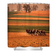 Amish Country Farm Landscape Shower Curtain