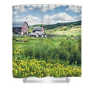 Amish Country Farm Warrens Shower Curtain