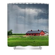 Amish County Landscape Shower Curtain