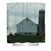 Amish Dairy Farm Shower Curtain